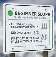 ski sign